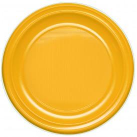 Plastic Plate PS Deep Mango 22 cm (600 Units)