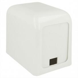 """Napkin Plastic Dispenser """"Miniservis"""" White 15x10x12,5cm (1 Unit)"""
