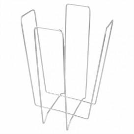 Wire Napkin Holder Silver 22x22x18cm (12 Units)