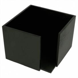 Bamboo Napkin Holder Black 13,5x13,5x10cm (12 Units)
