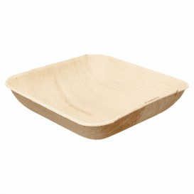 Palm Leaf Bowl 15x15x4cm (25 Units)