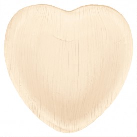 "Palm Leaf Plate ""Heart"" Shape 16,5x16,5x2,5cm (25 Units)"