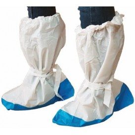 Disposable Plastic Boots Covers PE with Reinforce Sole (400Pairs)