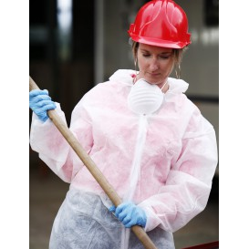 "Disposable Plastic Coverall ""TST"" PP Hood Zipper 25g Size L (50 Units)"