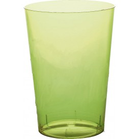 "Plastic Cup PS ""Moon"" Lime Green Clear 350ml (20 Units)"
