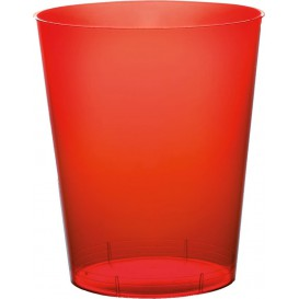 """Plastic Cup PS """"Moon"""" Red Clear 350ml (20 Units)"""