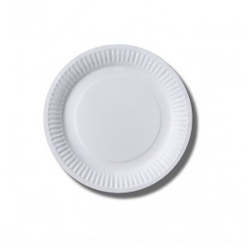 Paper Plate Biocoated White 18 cm (100 Units)