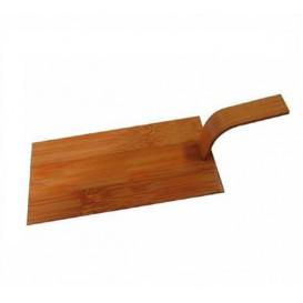 """Bambo Mini Shovel Tray Natural """"Tapas"""" 10x5 cm (100 Units)"""