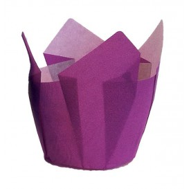Cupcake Liner Tulip shape Violet Ø5x5/8cm (125 Units)