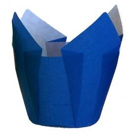 Cupcake Liner Tulip shape Blue Ø5x5/8cm (125 Units)