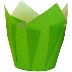 Cupcake Liner Tulip shape Green Ø5x5/8cm (2000 Units)