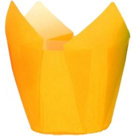 Cupcake Liner Tulip shape Yellow Ø5x5/8cm (125 Units)