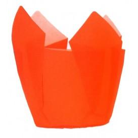 Cupcake Liner Tulip shape Orange Ø5x5/8cm (125 Units)