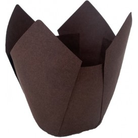 Cupcake Liner Tulip shape Brown Ø5x4,2/7,2cm (2160 Units)