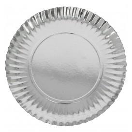 Paper Plate Round Shape Silver 27cm (100 Units)