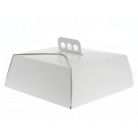 Paper Cake Box Square Shape White 24,5x24,5x10cm (100 Units)