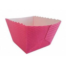 Paper Baking Mold Square Shape Violet Ø4,2x3,7 cm (75 Units)