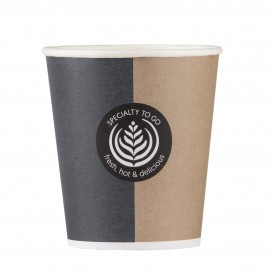 "Paper Cup ""Specialty"" 6 Oz/180ml + Lid Ø7,0cm (1000 Units)"
