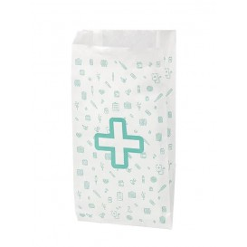 Paper Bag Pharmacy White 14+7x24cm (1000 Units)