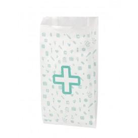 Paper Bag Pharmacy White 14+7x24cm (125 Units)