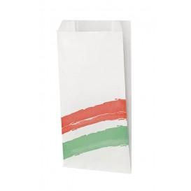 Paper Burger Bag Grease-Proof Design 14+7x27cm (1000 Uds)