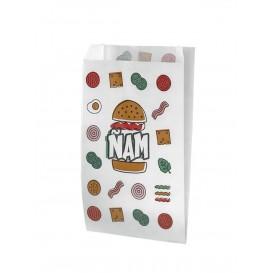 Paper Burger Bag Grease-Proof Design 14+7x27cm (125 Units)