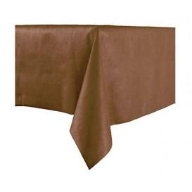 Tablecloth Novotex Non-Woven Brown 100x100cm (150 Units)
