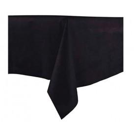 Tablecloth Novotex Non-Woven Black 100x100cm (150 Units)