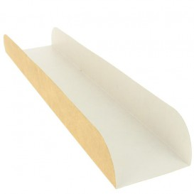 Paper Baguette Tray Kraft 30x6,1x3,2cm (100 Units)