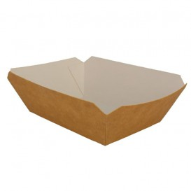 Paper Food Boat Tray Kraft 250ml 9,6x6,5x4,2cm (25 Units)