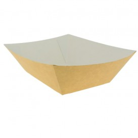 Paper Food Boat Tray Kraft 300ml 11x7x3,5cm (25 Units)