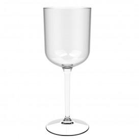 "Reusable Plastic Glass Wine ""Tritan"" Clear 470ml (6 Units)"