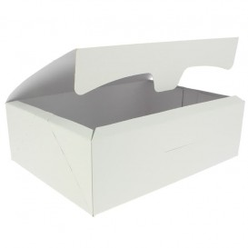 Paper Bakery Box White 25,8x18,9x8cm 2Kg (25 Units)
