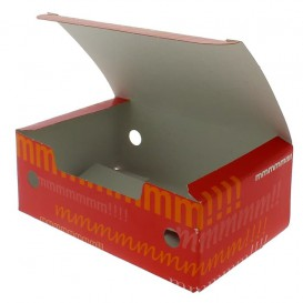 Paper Take-Out Box Small size 1,15x0,72x0,43cm (50 Units)