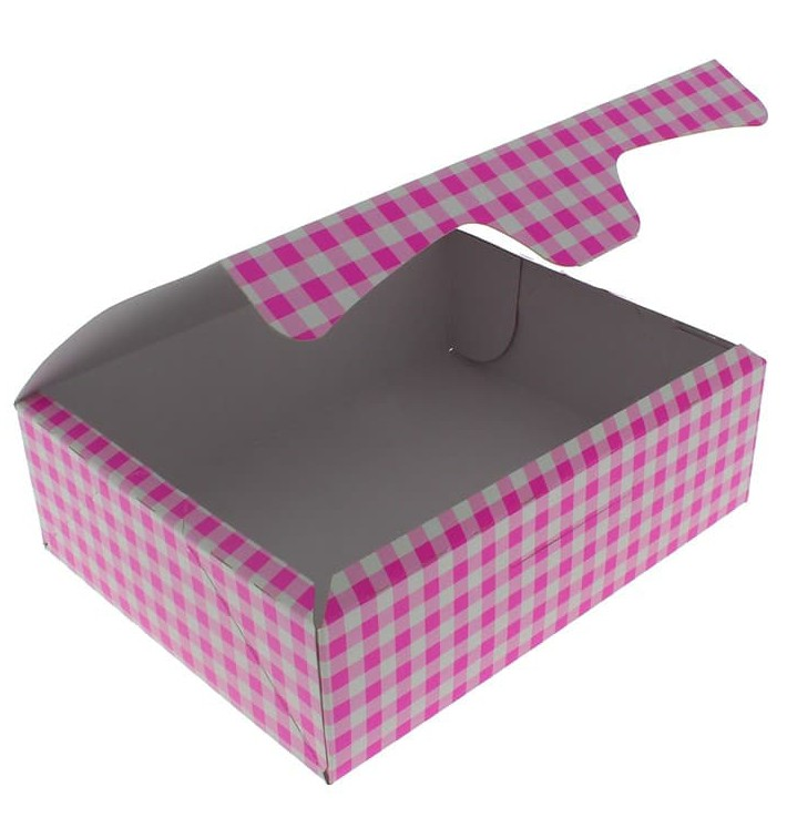 Paper Bakery Box Pink 20,4x15,8x6cm 1kg (200 Units)