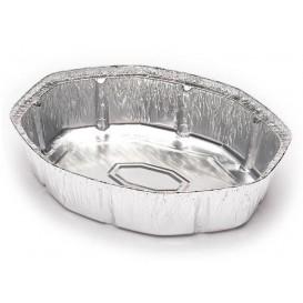 Foil Pan for Roast Chicken Oval Shape 1900ml (500 Units)