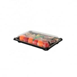 Sushi Tray and Lid PLA Black 15,0x23,0 cm (600 Units)