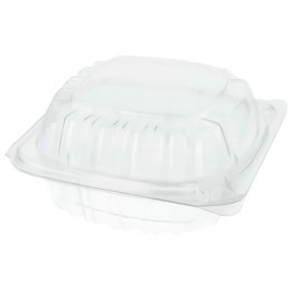 "Plastic Hinged Deli Container OPS ""Clear Seal"" 120ml (500 Units)"