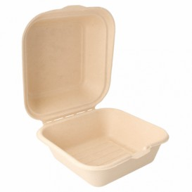 Sugarcane Burger Box 152x152x84mm (50 Units)