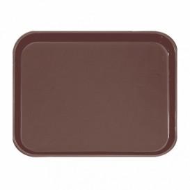 Plastic Tray Non-Slip Brown 51,0x38,0cm (12 Units)
