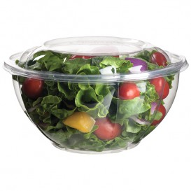 Salad Bowl with Lid PLA 940ml (50 Units)