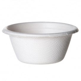Sugarcane Container Bagasse White 60ml (50 Units)