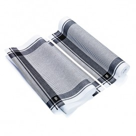 "Dishcloth Roll ""Roll Drap"" Vintage Black 40x64cm P40cm (10 Units)"