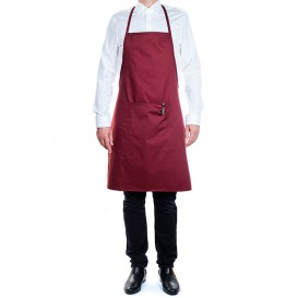 Serving apron bib and pocket Burgundy 75x90cm (1 Unit)