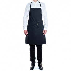 Serving apron bib and pocket Black 75x90cm (20 Uts)