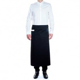 Serving French apron 2 pocket Black 90x110cm (1 Unit)