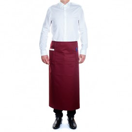 Serving French apron 2 pocket Burgundy 90x110cm (1 Unit)