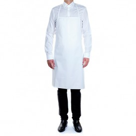 Serving apron Plasticized White 75x90cm (1 Unit)