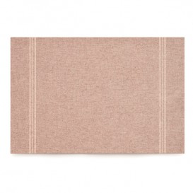 "Recycled Cotton Placemat ""Day Drap"" Brown 32x45cm (12 Units)"