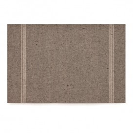 "Cotton Placemat ""Day Drap"" Dark Brown 32x45cm (12 Units)"